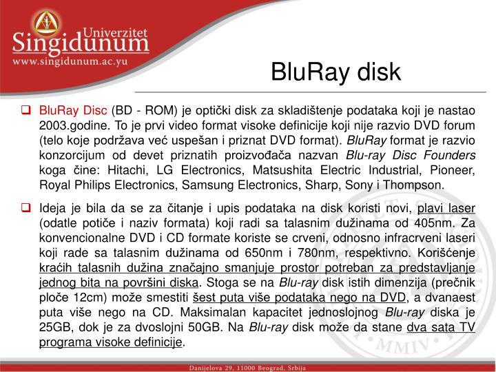 BluRay disk