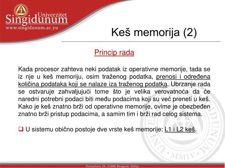 Keš memorija (2)