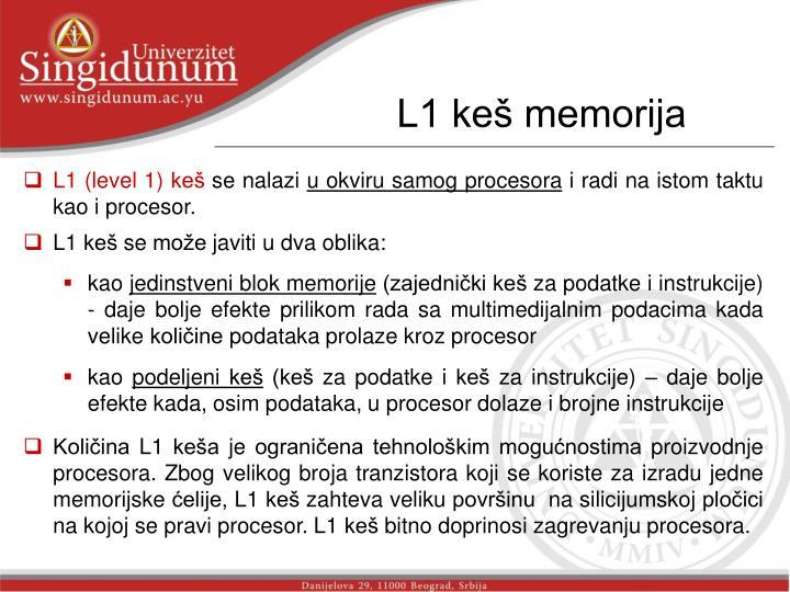 L1 keš memorija