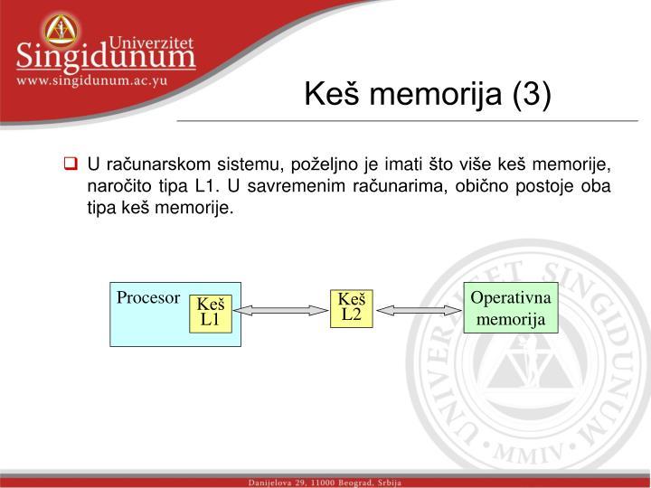 Keš memorija (3)