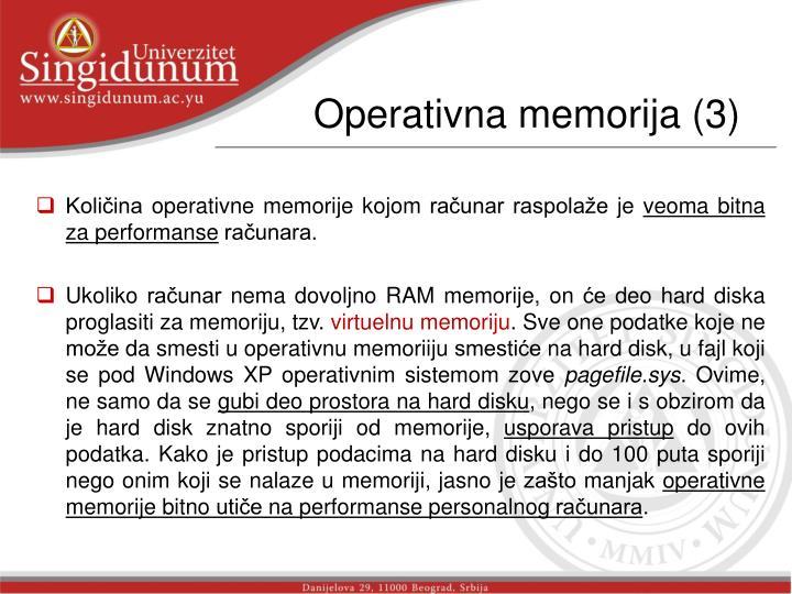 Operativna memorija (3)