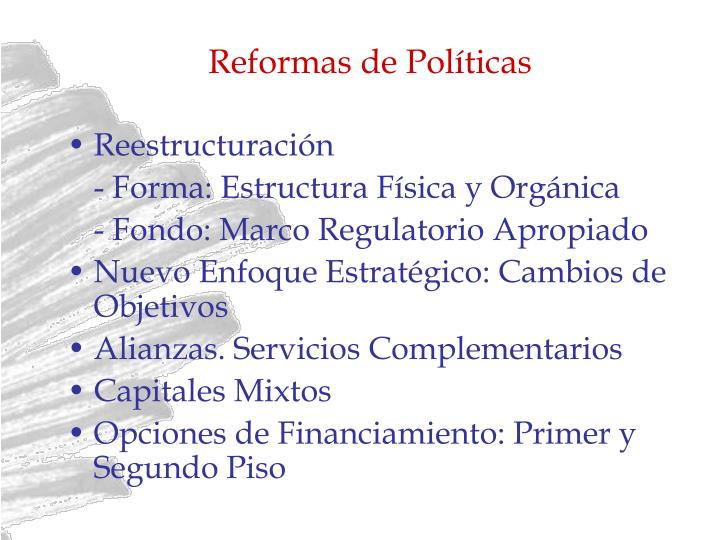 Reformas de Políticas