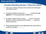 covalent bonding review think pair share