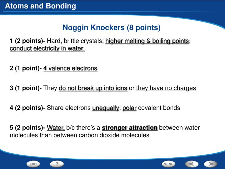 Noggin Knockers (8 points)