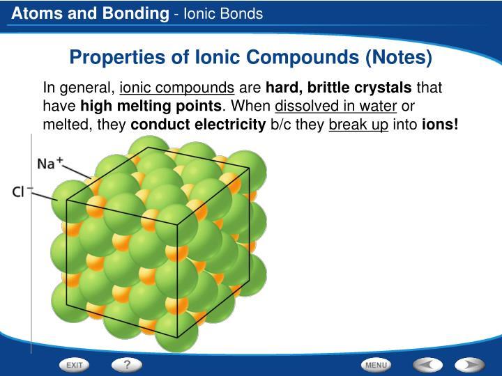 - Ionic Bonds
