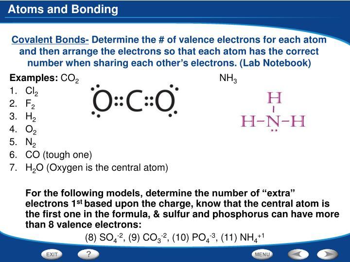 Covalent Bonds-
