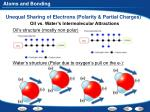 unequal sharing of electrons polarity partial charges1