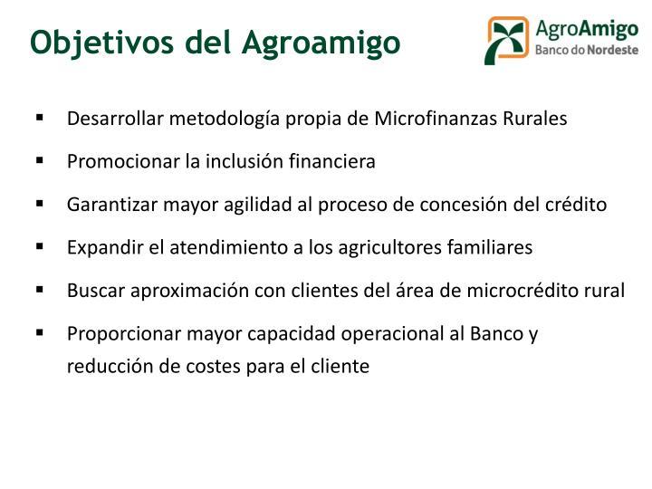 Objetivos del Agroamigo