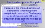 hard probes production yields