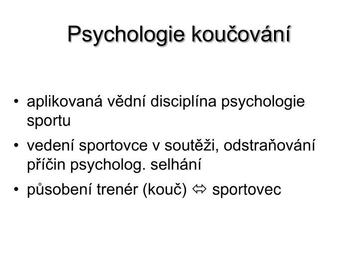 Psychologie koučování
