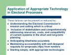 application of appropriate technology in electoral processes2