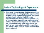 indian technology experience