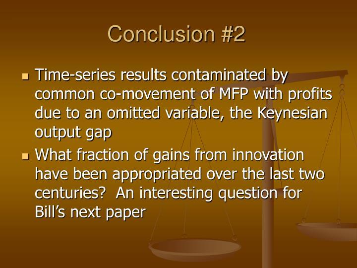 Conclusion #2
