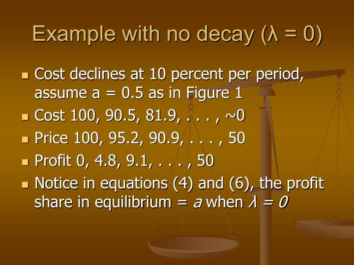 Example with no decay (λ = 0)