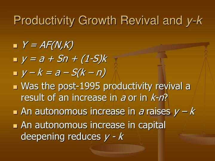 Productivity Growth Revival and