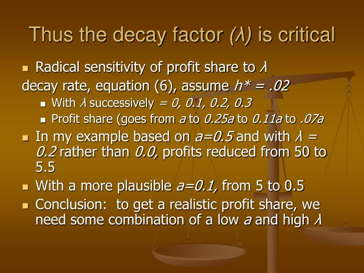 Thus the decay factor