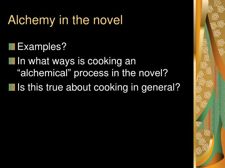 Alchemy in the novel