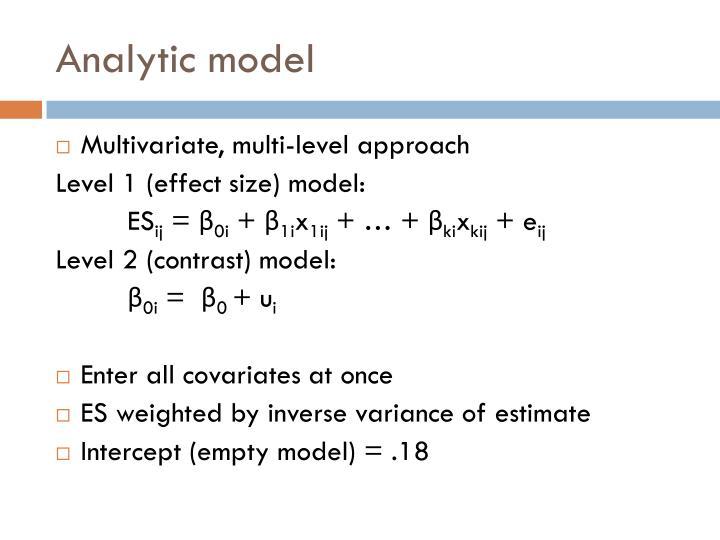Analytic model