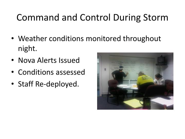 Command and Control During Storm