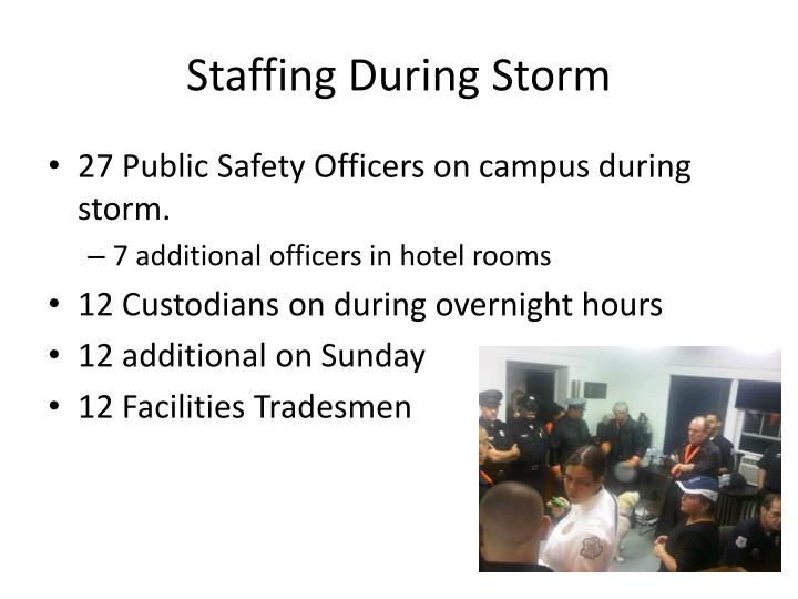 Staffing During Storm