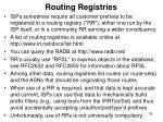 routing registries