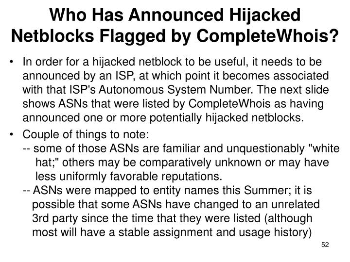 Who Has Announced Hijacked