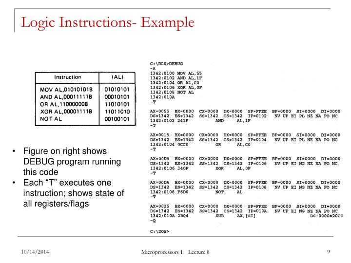Logic Instructions- Example