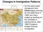 changes in immigration patterns1