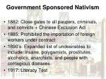 government sponsored nativism