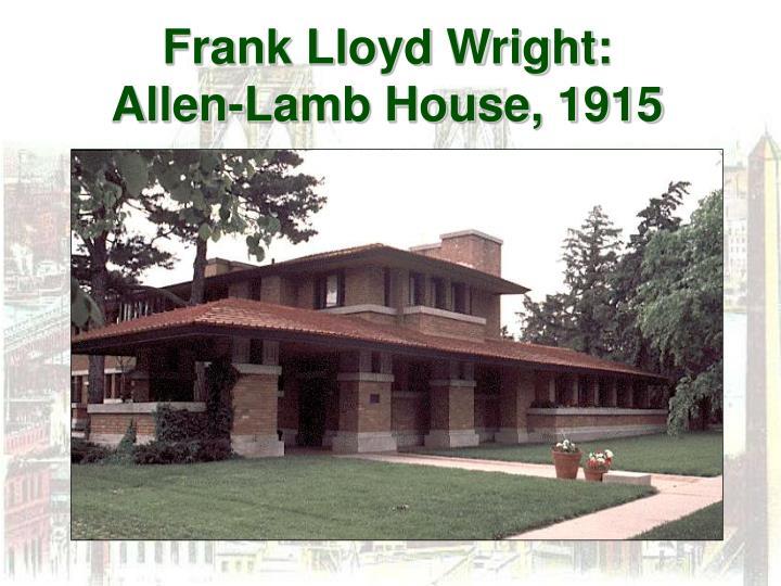 Frank Lloyd Wright: