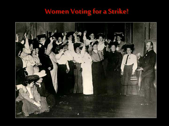 Women Voting for a Strike!