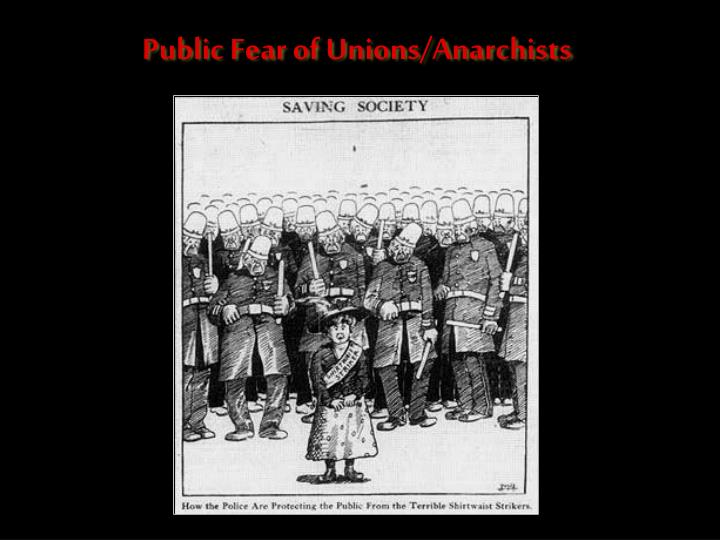 Public Fear of Unions/Anarchists