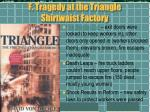 f tragedy at the triangle shirtwaist factory