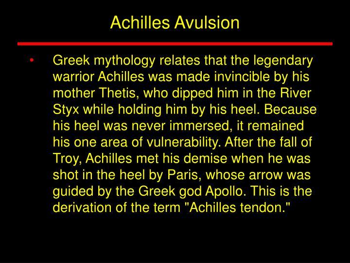 Achilles Avulsion