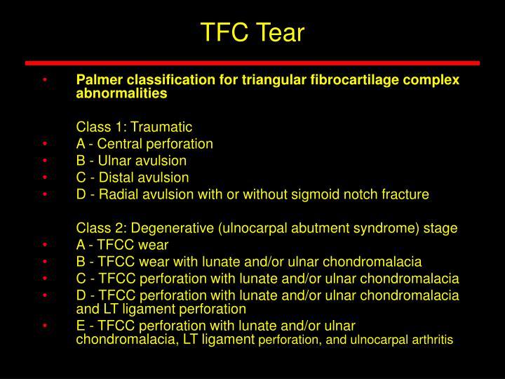 TFC Tear