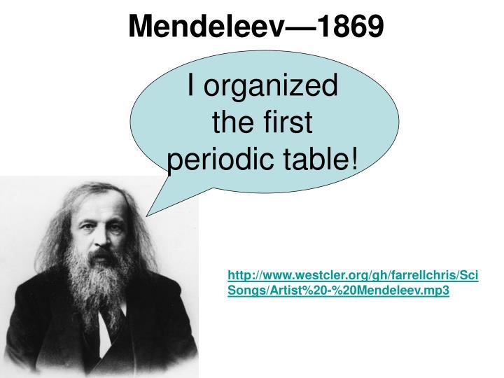 Mendeleev—1869