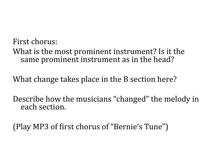 First chorus: