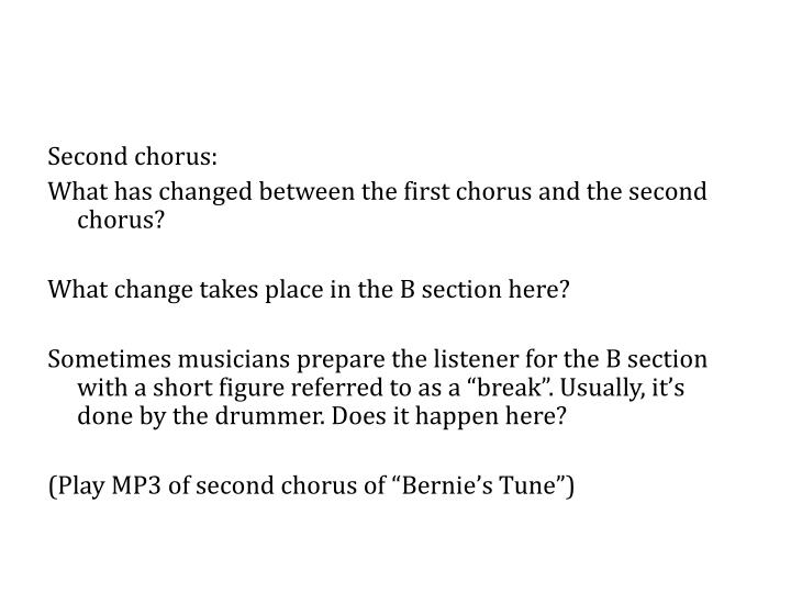 Second chorus: