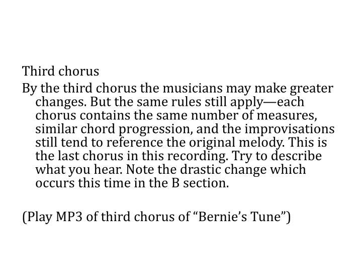 Third chorus