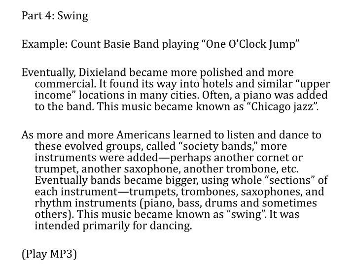 Part 4: Swing