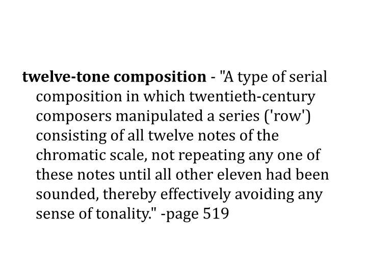 twelve-tone composition
