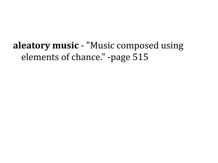 aleatory music