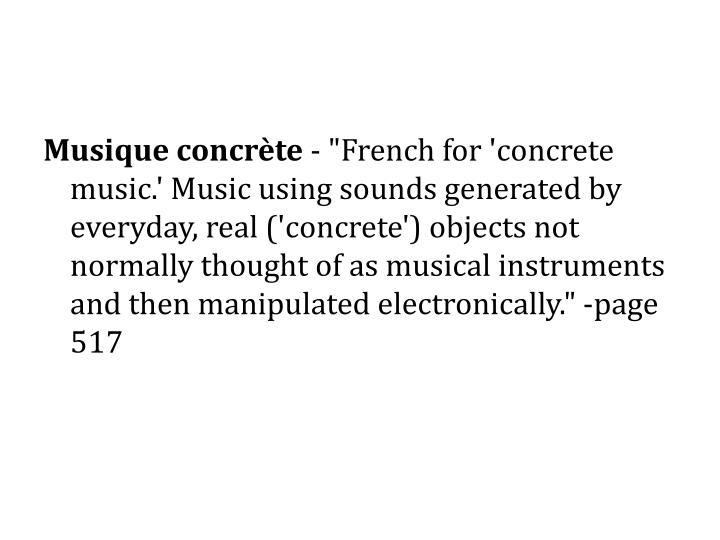 Musique concrète