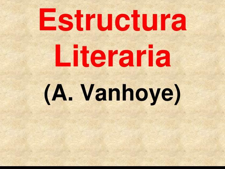 Estructura Literaria