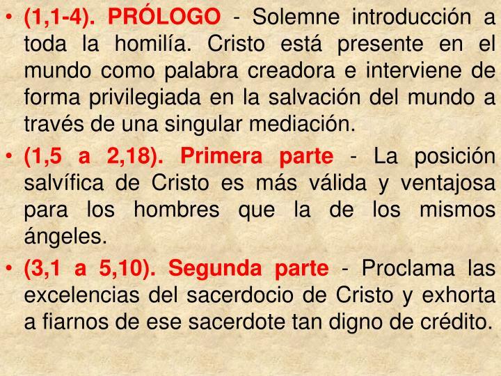 (1,1-4). PRÓLOGO