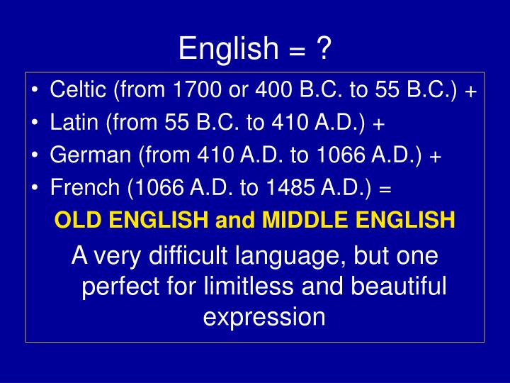 English = ?