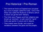 pre historical pre roman1