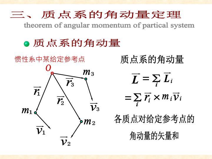 质点系角动量