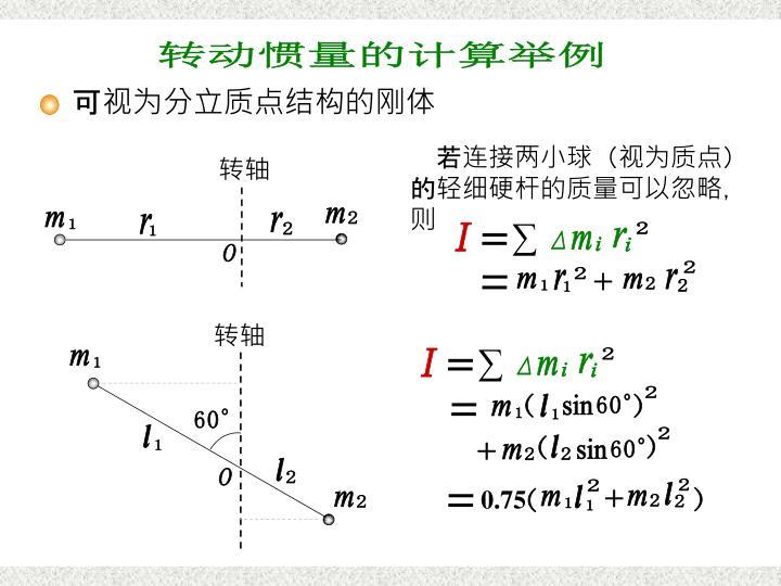 分立质点的算例