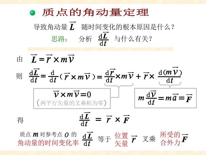 质点角动量定理